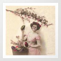 Mademoiselle skull Art Print