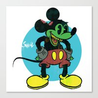 unDEADmouse Canvas Print