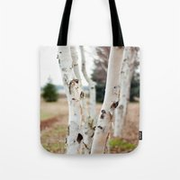 Line Of Birches Tote Bag