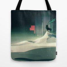 Winter in a dark world Tote Bag