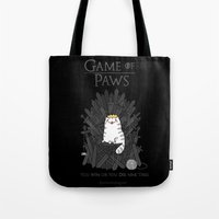 Game of Paws Tote Bag