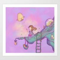 Up on the treetop 2 Art Print