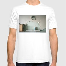 Lost mirror Mens Fitted Tee White SMALL