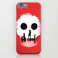 iPhone Cases featuring Bye Bye Apocalypse (red ver) by Budi Kwan