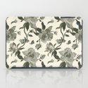 Black Magnolia Pattern iPad Case