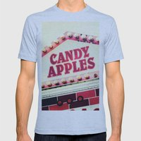 Candy Apples Mens Fitted Tee Athletic Blue SMALL