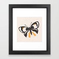 Gungry Butterflies Framed Art Print