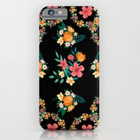 Abstract Floral Pattern iPhone 6 Slim Case