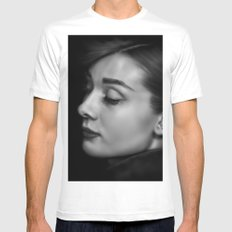 Audrey White Mens Fitted Tee SMALL