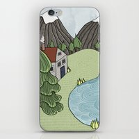 Cabin In The Mountains iPhone & iPod Skin