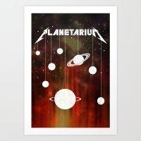 Planetarium (welcome home) Art Print