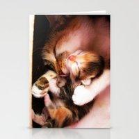 Cats hug Stationery Cards