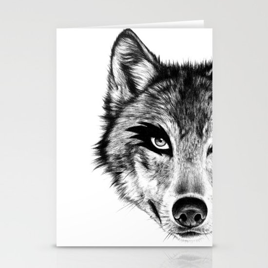 The Wolf Next Door Stationery Card