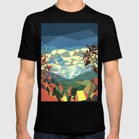 Landshape Mens Fitted Tee Black SMALL