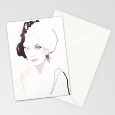 Fashion illustration in watercolors Stationery Cards