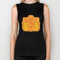 I Still Shoot Film Holga Logo - Reversed Yellow & Red Biker Tank