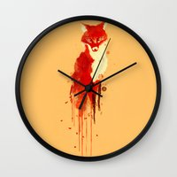 The fox, the forest spirit Wall Clock