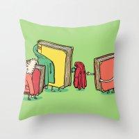 Book Jackets Throw Pillow