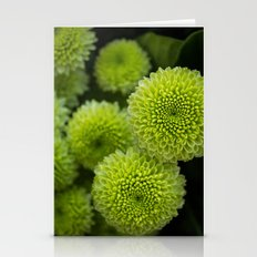 Green Chrysanthemums Stationery Cards
