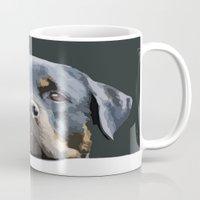 Rottweiler Portrait Vect… Mug