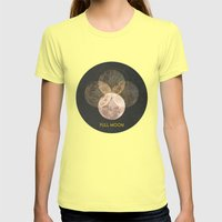 Full Moon Womens Fitted Tee Lemon SMALL