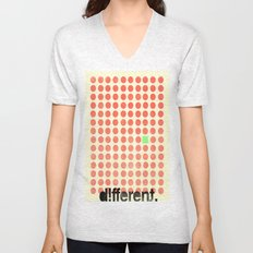 be different Unisex V-Neck