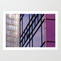 Downtown Purple Art Print