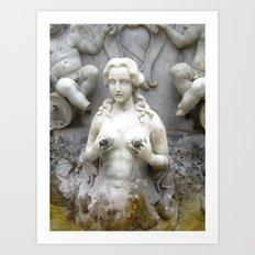 Fountain Sculpture Photography Art Print