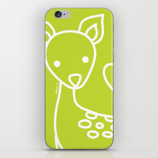 Green Deer iPhone & iPod Skin