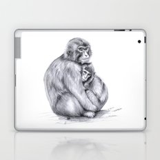 Snow monkey and baby Laptop & iPad Skin