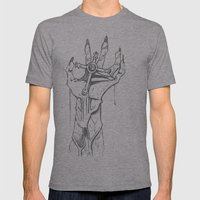 DeathCross Mens Fitted Tee Athletic Grey SMALL