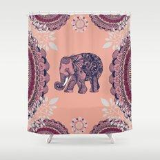 Bohemian Elephant  Shower Curtain