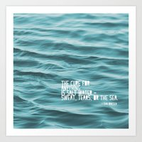 SaltWater Cure Art Print