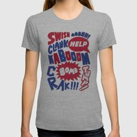 Superpop Womens Fitted Tee Athletic Grey SMALL