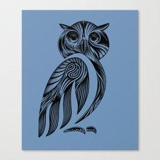 Tribal Owl Canvas Print