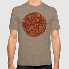 Map of the Town Mens Fitted Tee Tri-Coffee SMALL