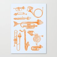 Fish Trumpet Canvas Print