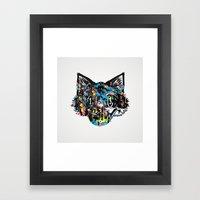 The Creative Cat (Alt. Colorway) Framed Art Print