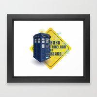 Doctor Who Tardis - Baby… Framed Art Print
