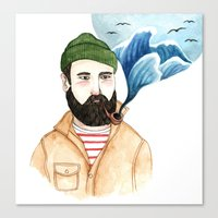 The Sailor And The Sea Canvas Print