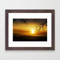 exmoor sunset Framed Art Print