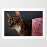 Couture Cat Art Print