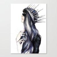Ice Queen // Fashion Ill… Canvas Print