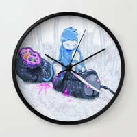 Samurai Monkey Wall Clock