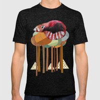 Red Panda Mens Fitted Tee Tri-Black SMALL