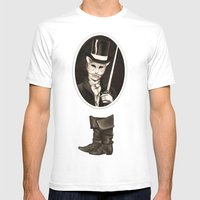 Puss In Boots Mens Fitted Tee White SMALL