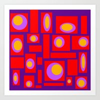 Mod Pattern Percy Art Print