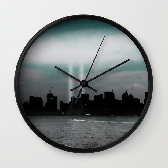 Renewal - New York City skyline Wall Clock