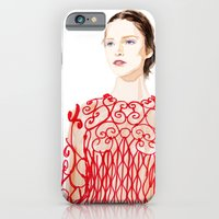 iPhone & iPod Case featuring Valentino Red by Joe Tin Illustration
