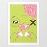 Wishing Zombie Art Print